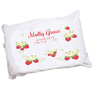 Personalized Strawberry Pillowcase