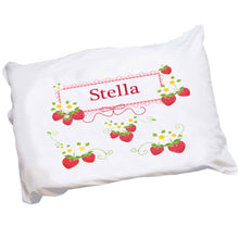 Personalized Childrens Pillowcase with Strawberries design
