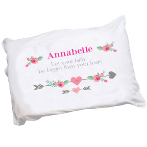 Personalized Girl's Tribal Arrow Pillowcase