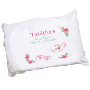 Personalized Tea Party Pillowcase