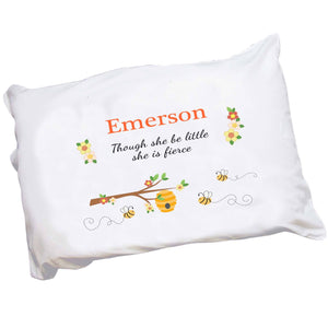 Personalized Honey Bees Pillowcase