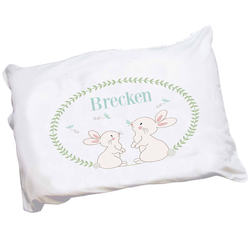 Personalized Childrens Pillowcase with Classic Bunny design