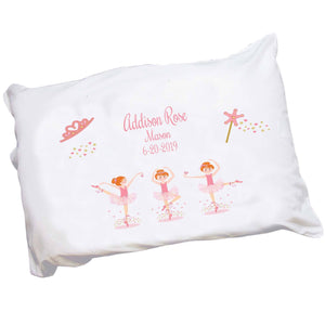 Personalized Red Hair Ballerina Pillowcase