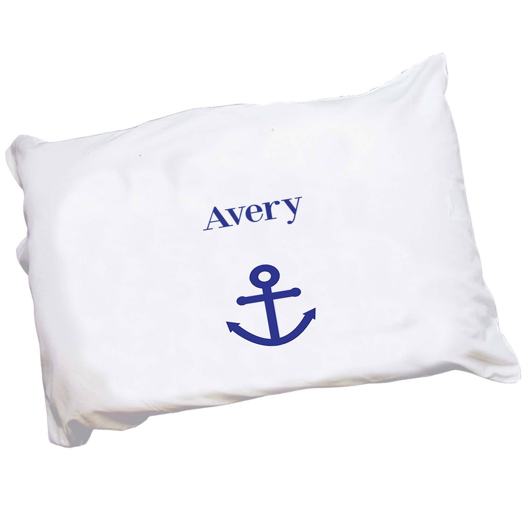 Personalized Childrens Pillowcase with Single Anchor design