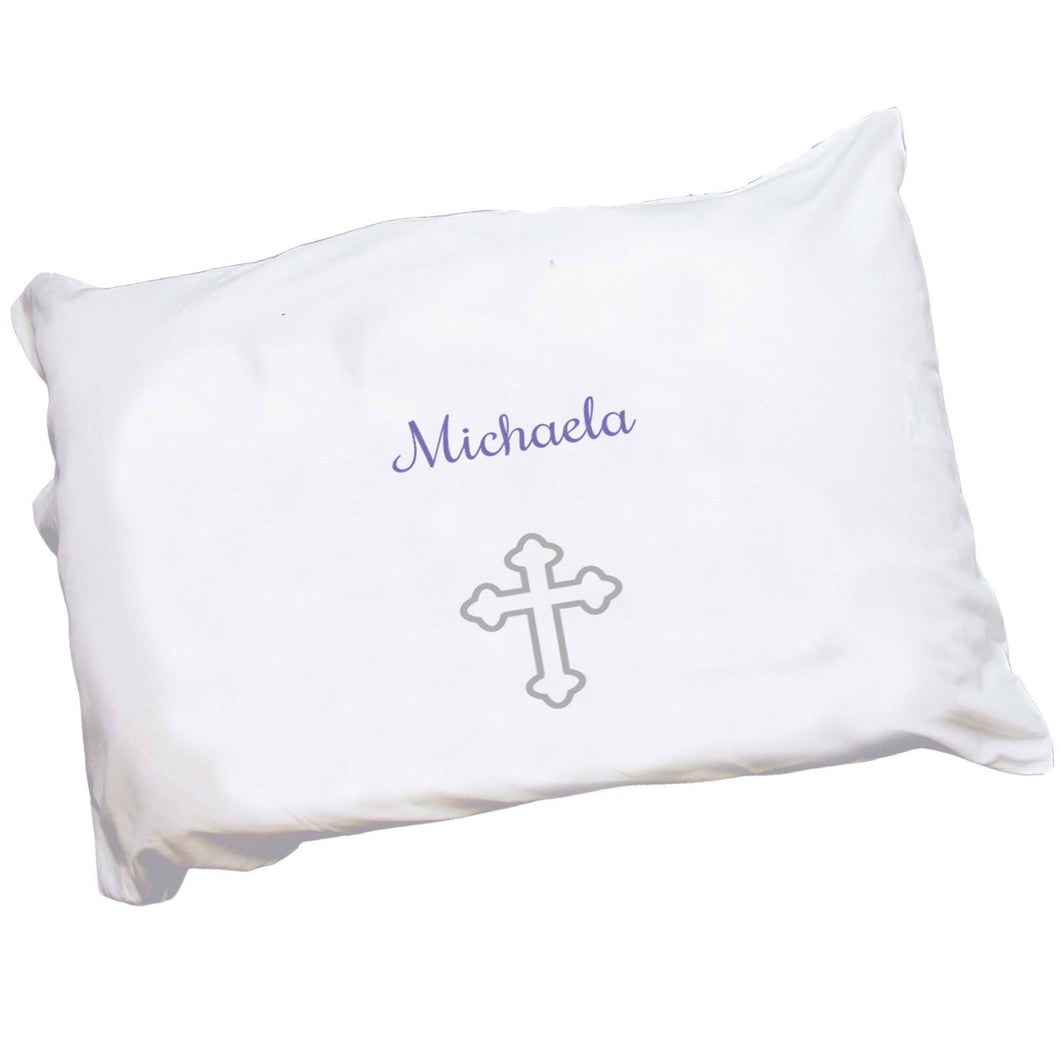 Personalized Childrens Pillowcase with Single Cross design