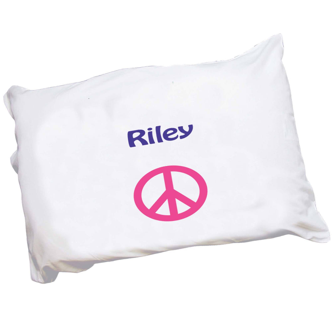 Personalized Childrens Pillowcase with Single Peace design