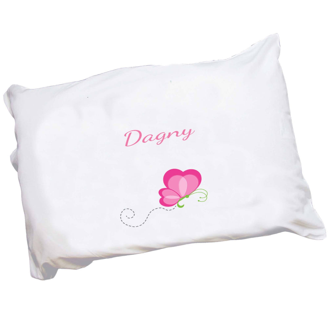 Personalized Childrens Pillowcase with Single Flutterfly design