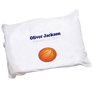 Personalized Pillowcase - Single Basketball