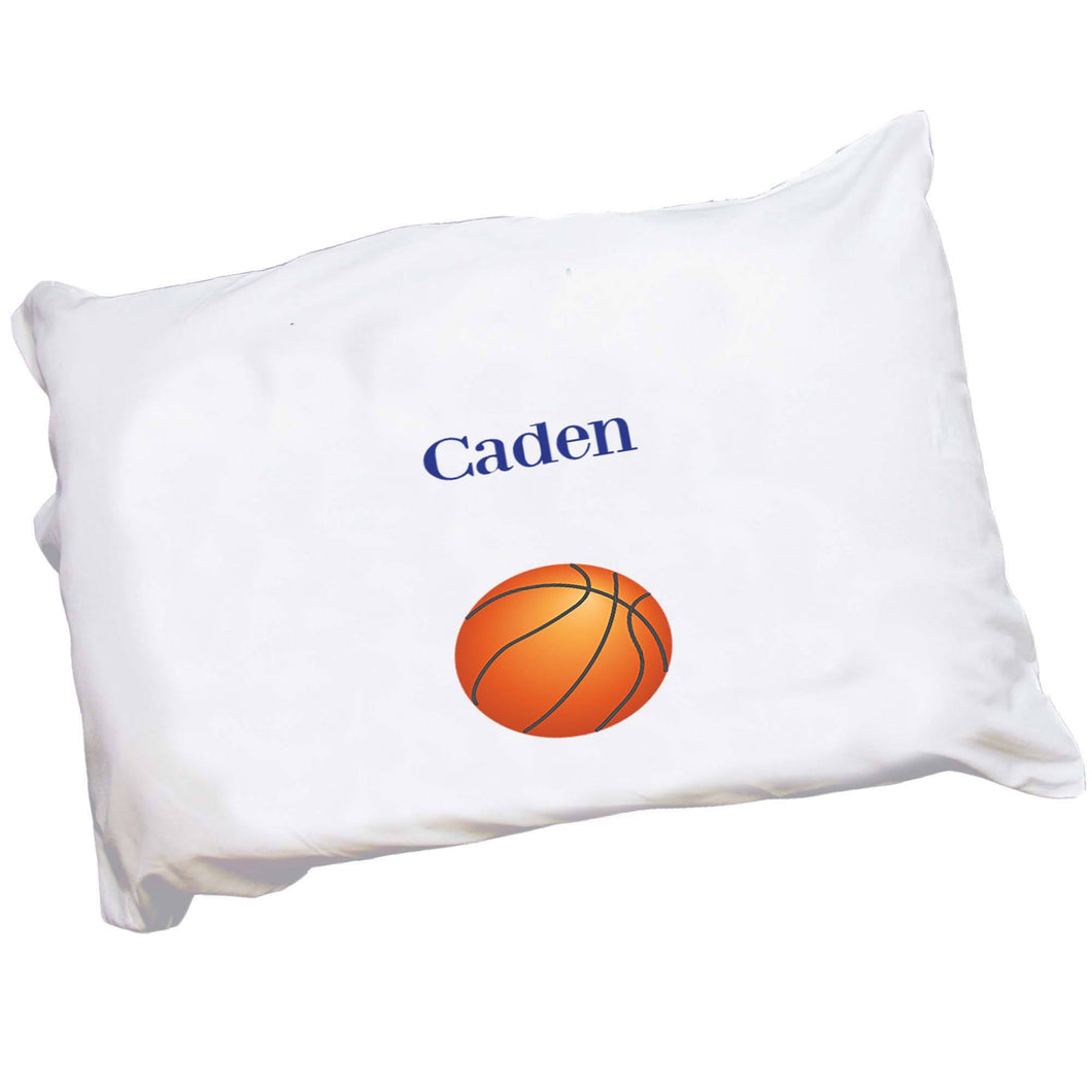 Personalized Childrens Pillowcase with Single Basketball design