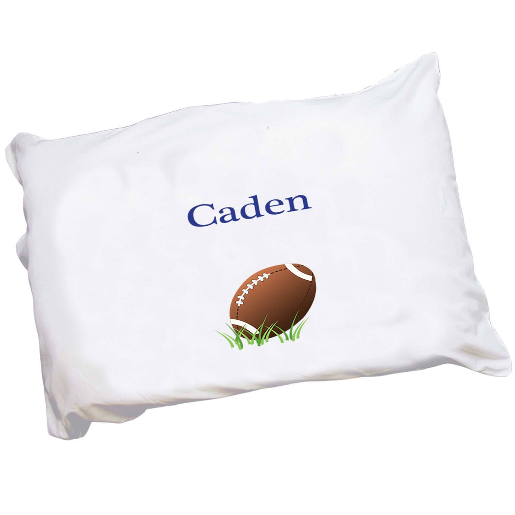 Personalized Childrens Pillowcase with Single Football design