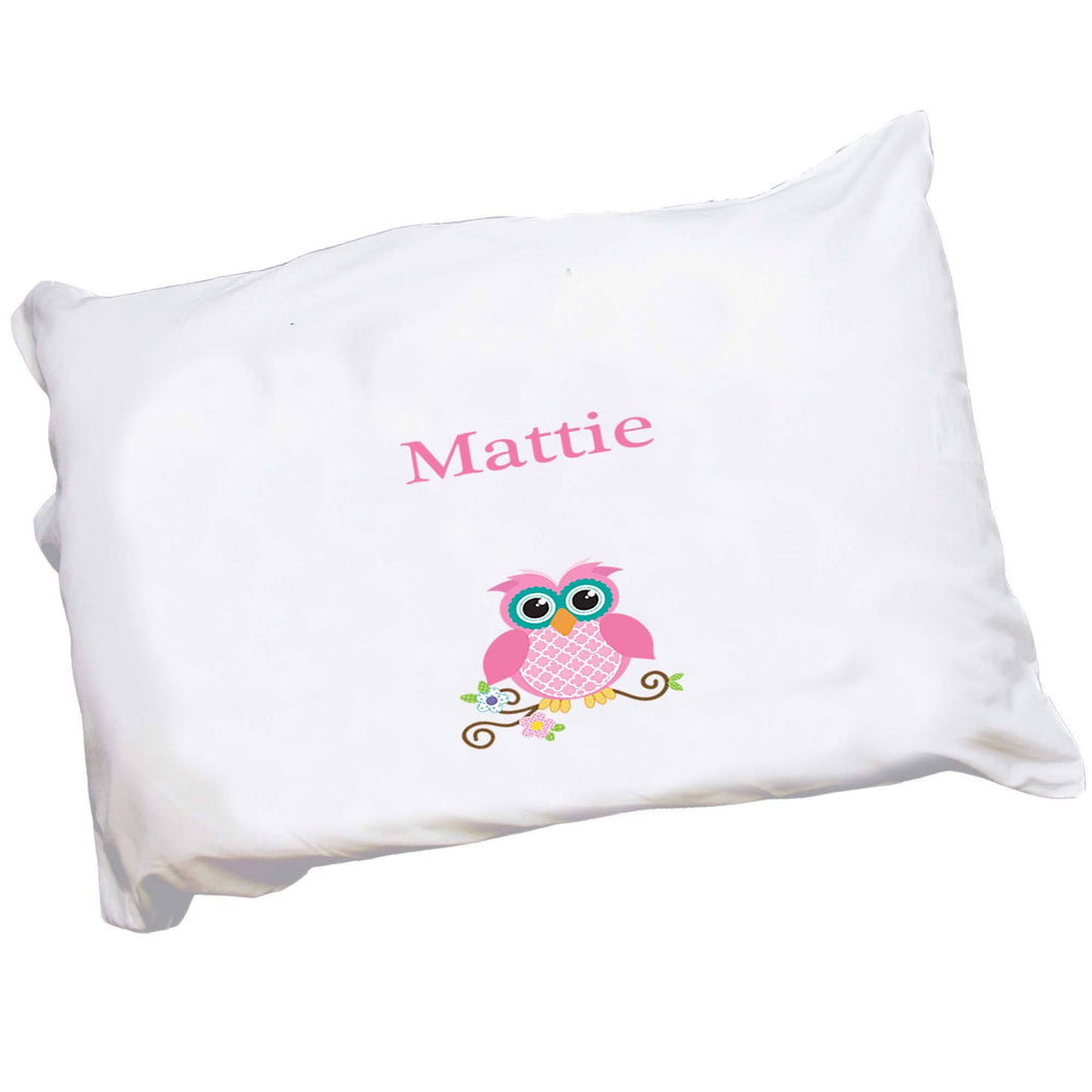 Personalized Childrens Pillowcase with Single Owl design