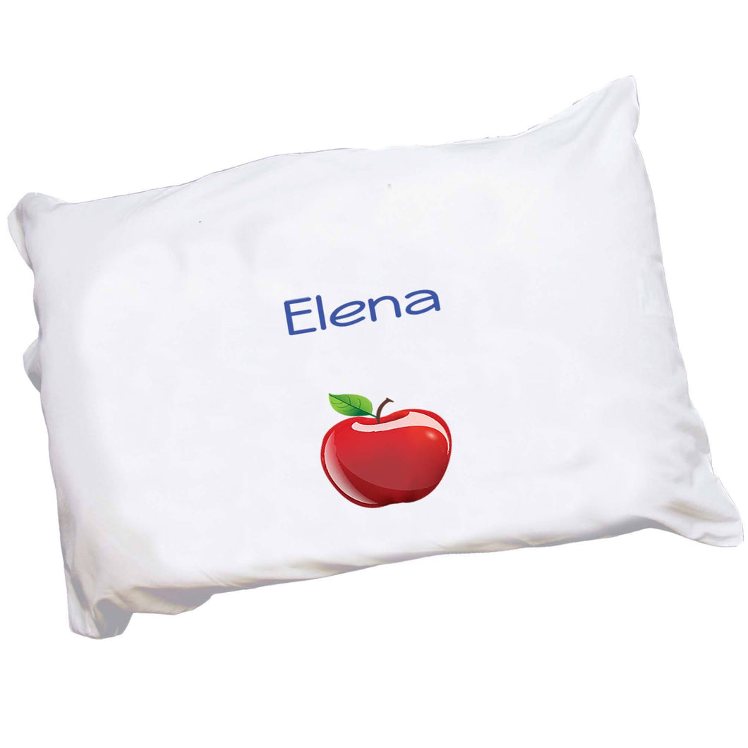 Personalized Childrens Pillowcase with Single Apple design