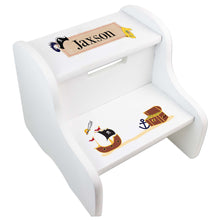 Personalized Pirate White Step Stool