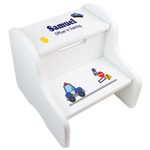 Boy's White Police Two Step Stool
