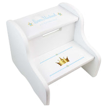 Boy's White Prince's Crown Two Step Stool