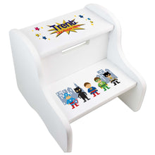 Boy's Personalized Superhero Two Step Stool