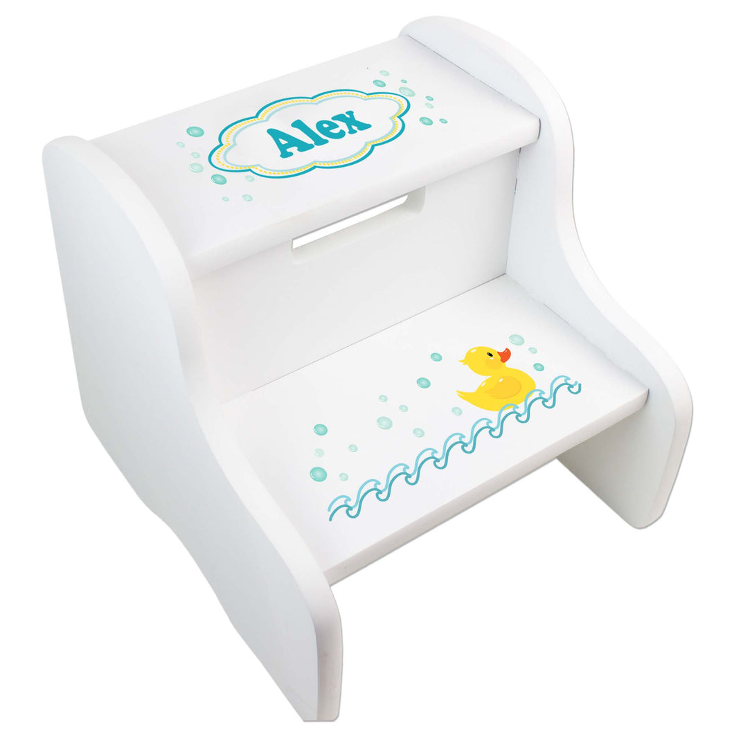 Personalized Ducky White Step Stool
