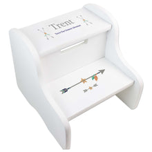 Boy's Personalized Tribal Arrow Two Step Stool
