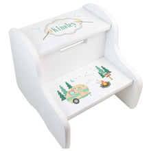 Personalized Camp Smores White Two Step Stool