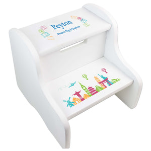 Child's White World Travel White Two Step Stool