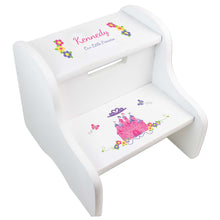 Girl's Princess Castle White Two Step Stool