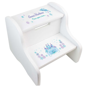 Girl's Winter Castle White Two Step Stool