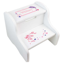 Personalized Ballet Princess White Two Step Stool