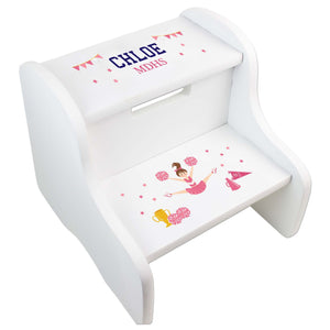 Cheerleader White Two Step Stool