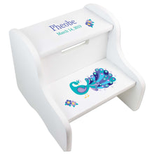 Girl's Peacock White Two Step Stool
