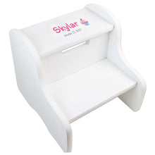 Single Cupcake White Two Step Stool