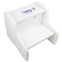 Single Crayon White Two Step Stool