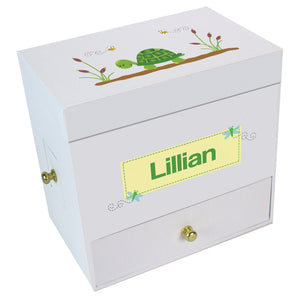 Turtle Deluxe Musical Ballerina Jewelry Box
