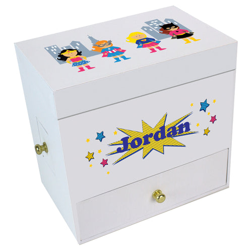 Girls Superhero Deluxe Musical Ballerina Jewelry Box