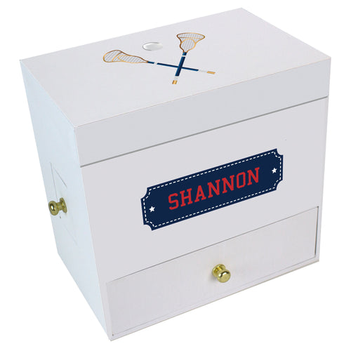 Lacrosse Sticks Deluxe Musical Ballerina Jewelry Box