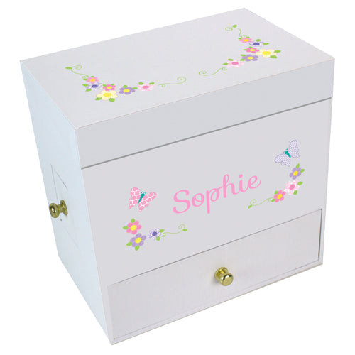 Pastel Butterfly GarlandDeluxe Musical Ballerina Jewelry Box