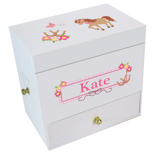Prancing Pony Deluxe Musical Ballerina Jewelry Box