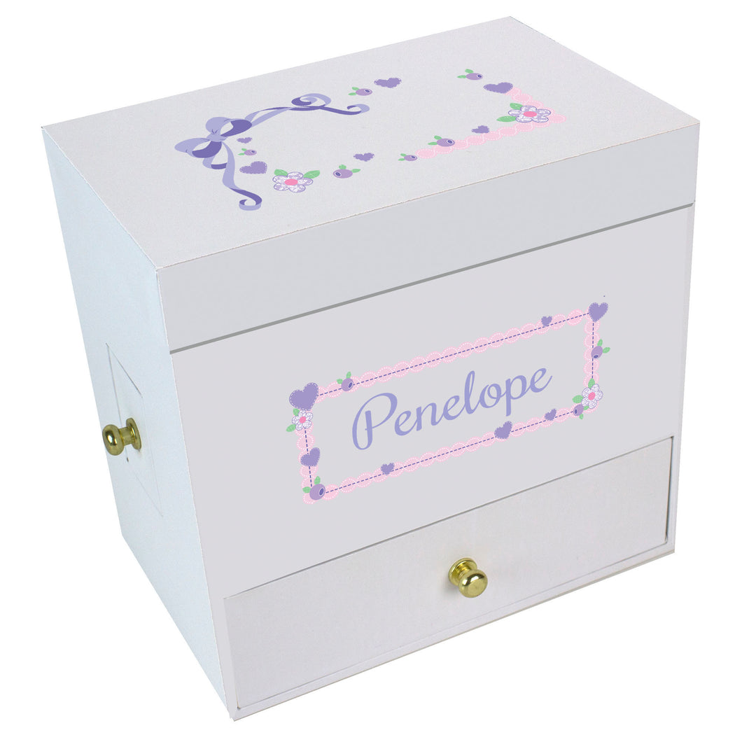 Lacey Bow Deluxe Musical Ballerina Jewelry Box