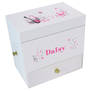 Pink Rock Star Deluxe Musical Ballerina Jewelry Box