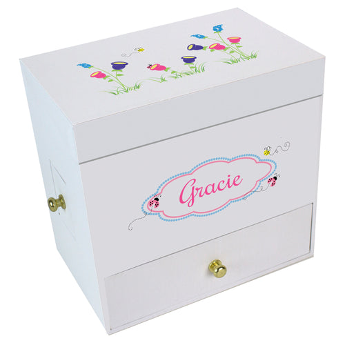 English Garden Deluxe Musical Ballerina Jewelry Box