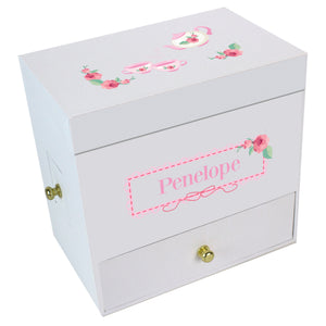 Tea Party Deluxe Musical Ballerina Jewelry Box