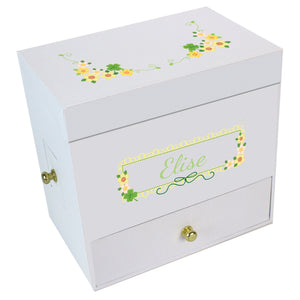Shamrock Deluxe Musical Ballerina Jewelry Box