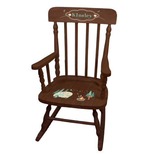 Camp S'mores Spindle Rocking Chair -Espresso