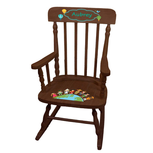 Small World Spindle Rocking Chair -Espresso