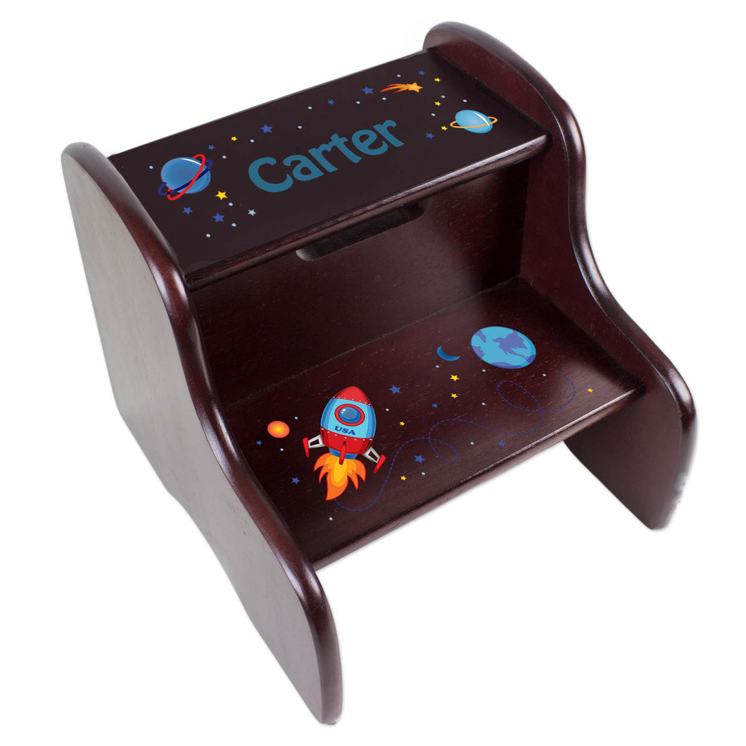 Personalized Rocket Espresso Two Step Stool