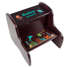 Personalized Sea Life Step Stool - Espresso