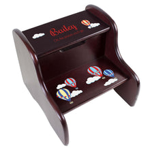 Personalized Hot Air Balloon Espresso Two Step Stool