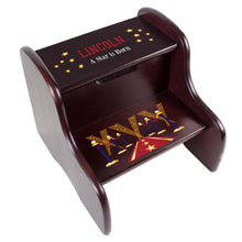 Personalized A Star is Born Red Espresso Two Step Stool