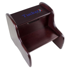 Personalized Single Plane Design Fixed Espresso Stool