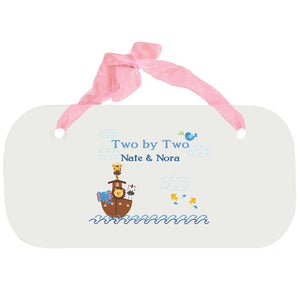 Personalized Girls Wall Plaque - Noahs Ark