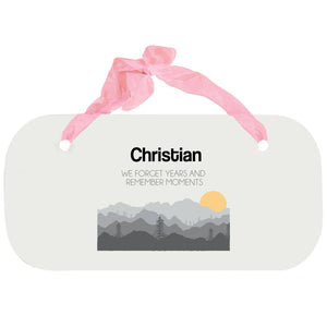 Personalized Girls Wall Plaque - Misty Mountain